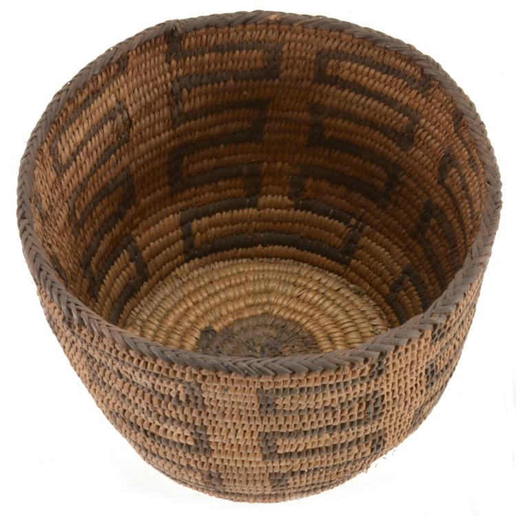 Lot 61: Antique Native American Indian Basket S. C. G. Watkins Collection