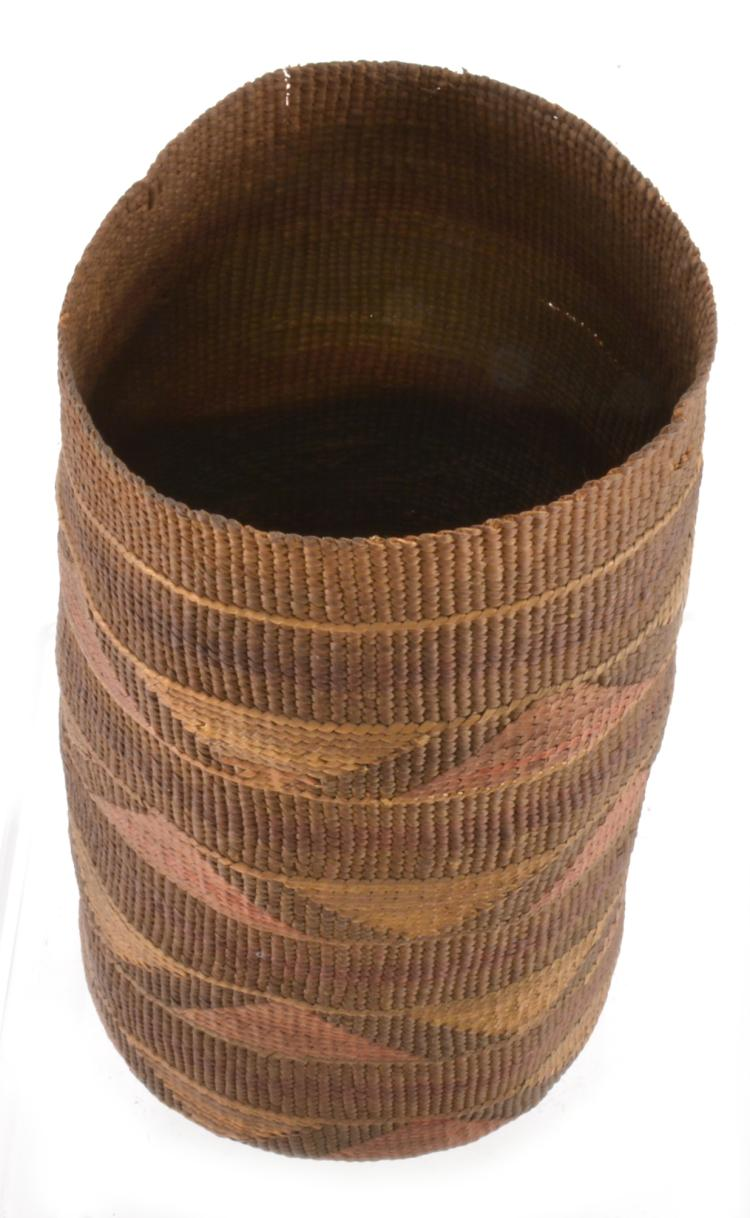 Lot 63: Antique Native American Indian Basket S. C. G. Watkins Collection