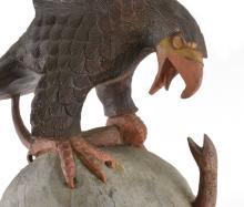 Lot 65: Eagle And Snake Southern Folk Art Wood Carving