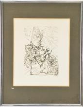 Lot 72: Salvador Dali El Cid Original Etching