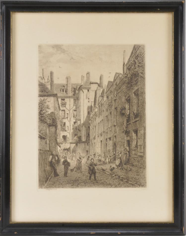 Lot 74: Antique Art Signed Etching