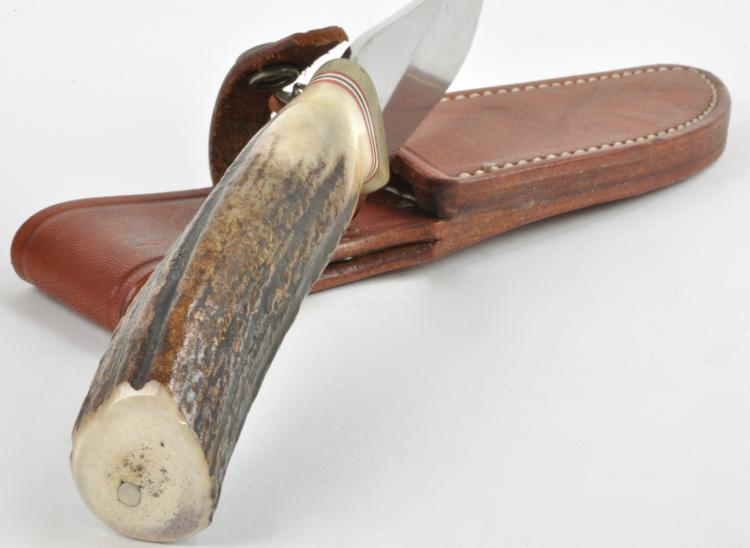 Lot 75: Randall Made Orlando Fla. Stag Handle Sheath Knife