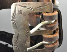 Lot 84: Native American Brandon Williams Navajo Sterling Silver Bracelet