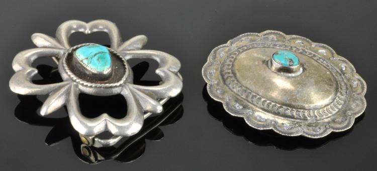 Vintage Southwest Navajo Jewelry Silver Belt Buckles