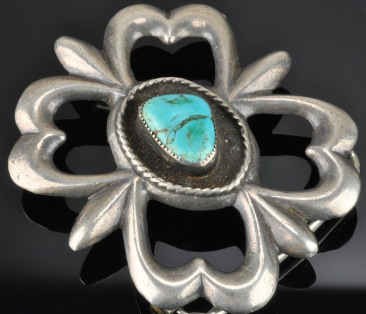 Lot 89: Vintage Southwest Navajo Jewelry Silver Belt Buckles