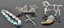 Lot 91: Vintage Southwest Navajo Jewelry Silver Collection