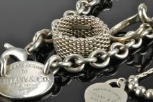 Lot 94: Tiffany & Co Sterling Silver Jewelry Collection