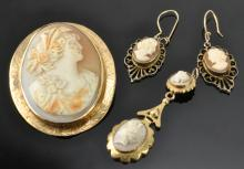Lot 99: Victorian Gold Cameo Collection