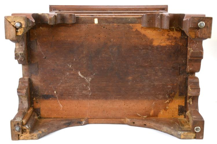 Lot 100: Ca.1830 Piedmont NC Signed Miniature Inlaid Chippendale Chest