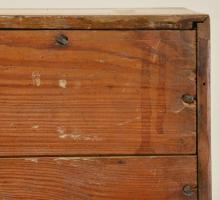 Lot 102: Ca.1790 Alamance Co. NC Quaker Walnut Slant Front Desk
