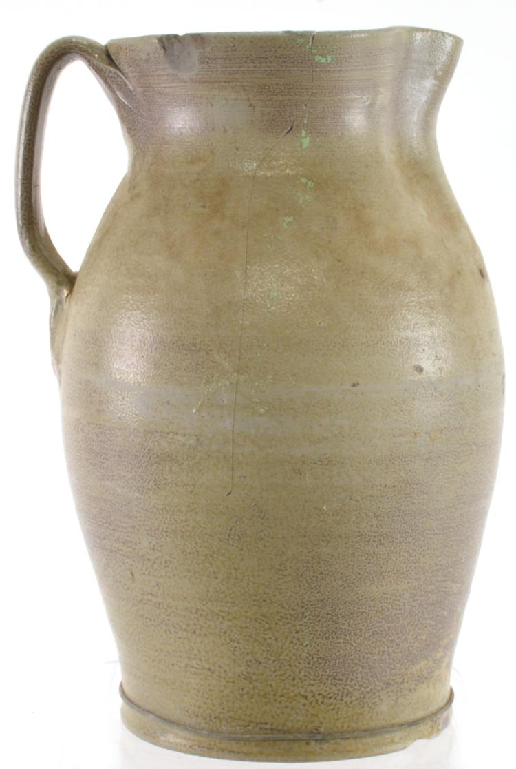 Lot 103: Rare Orange Co. NC G. Wolf 2+ Gallons Pottery Pitcher
