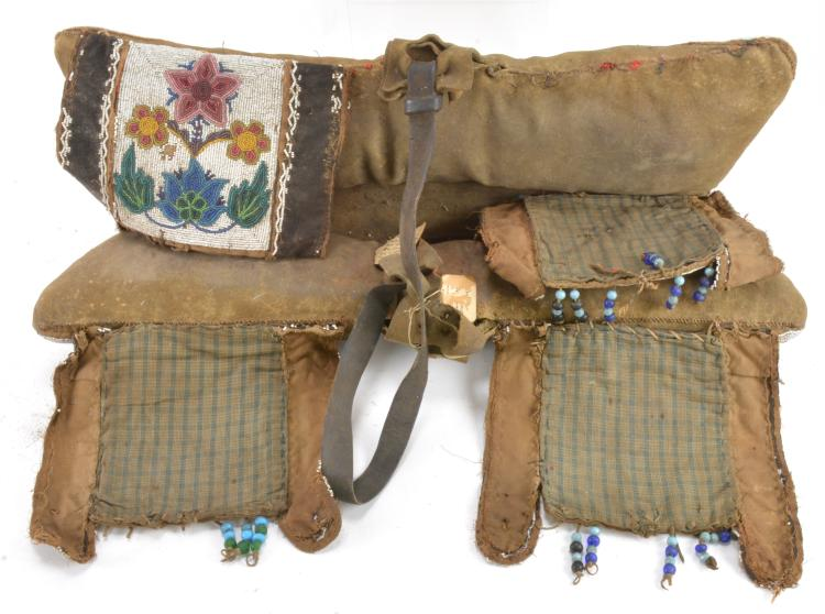 Lot 109: Rare Northern Plains Sioux Indian Pad Saddle S. C. G. Watkins Collection