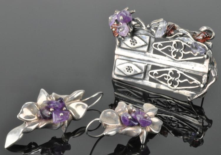 Mid Century Modern Silver Jewelry