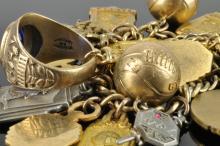 Lot 121: Roxboro North Carolina High School Sports Charm Bracelet