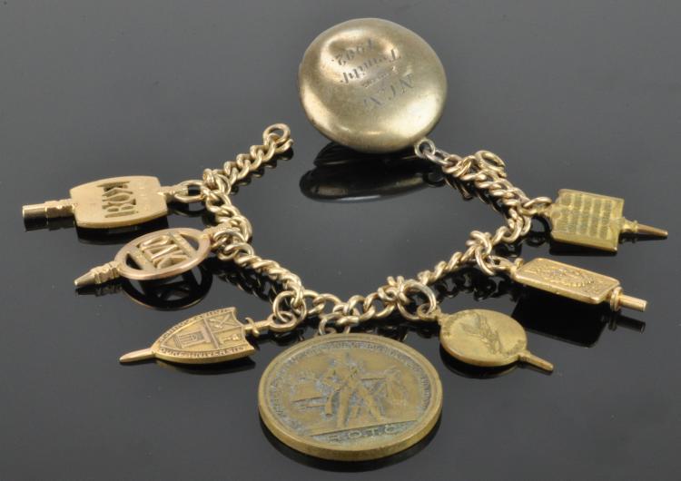 Duke University Gold Charm Bracelet