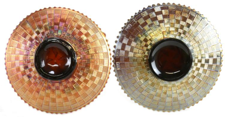 Lot 134: Northwood Strawberry Carnival Glass Plates