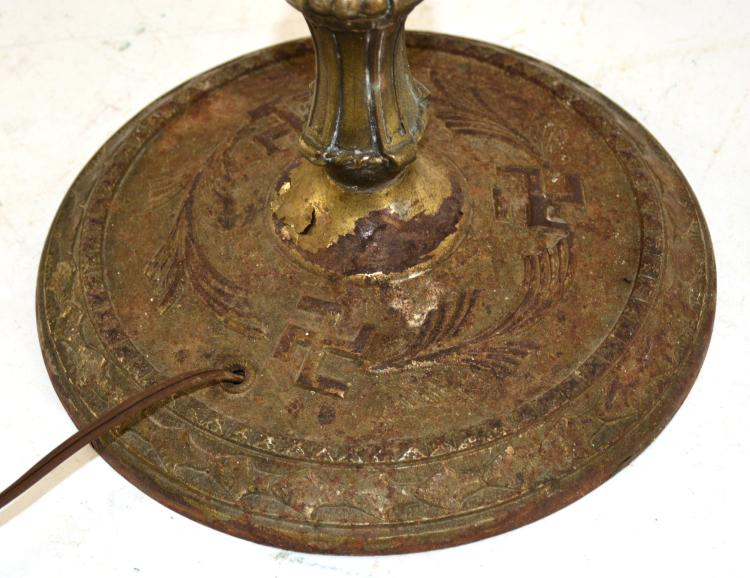 Lot 138: Native American Indian Motif Floor Lamp