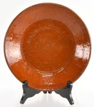 Lot 143: Alamance Co. NC Redware Pottery Dirt Dish