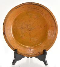 Lot 144: Alamance Co. NC Redware Pottery Dirt Dish