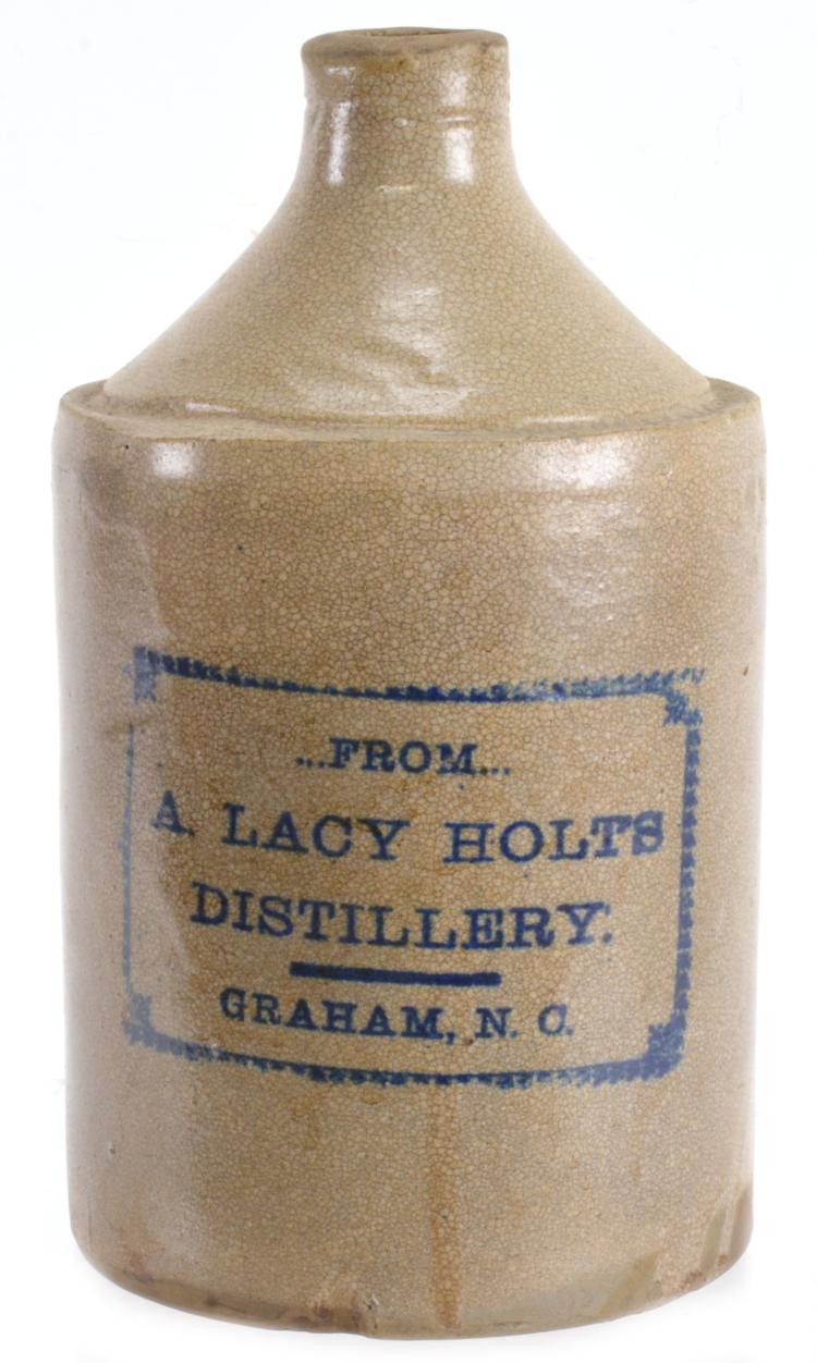 A. Lacy Holts Distillery Graham NC Stoneware Jug