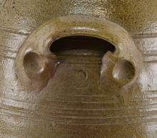 Lot 150: North Carolina Webster School Pottery Churn