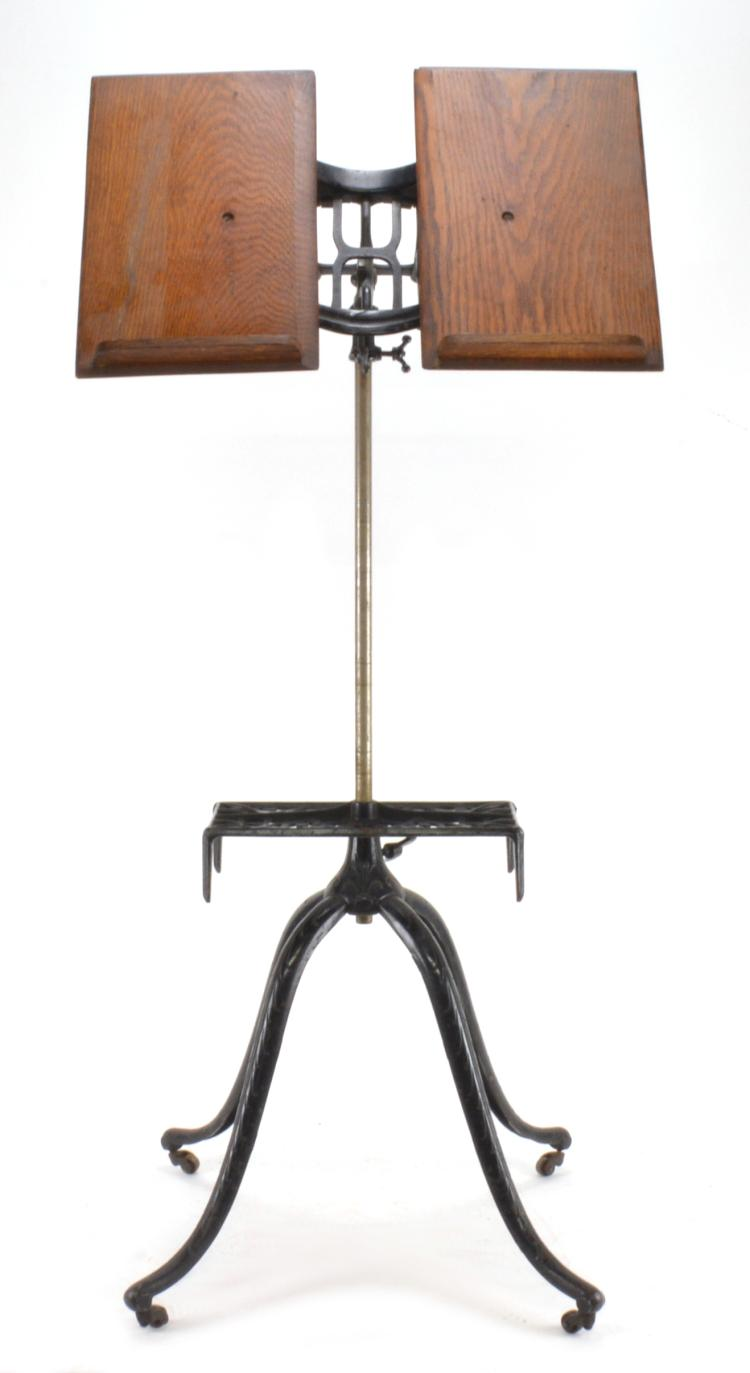 Lot 154: Antique American Adjustable Dictionary Stand