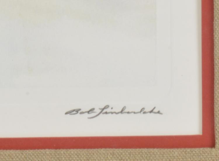 Lot 158: Bob Timberlake Mr. Zimmerman Corn Signed Print