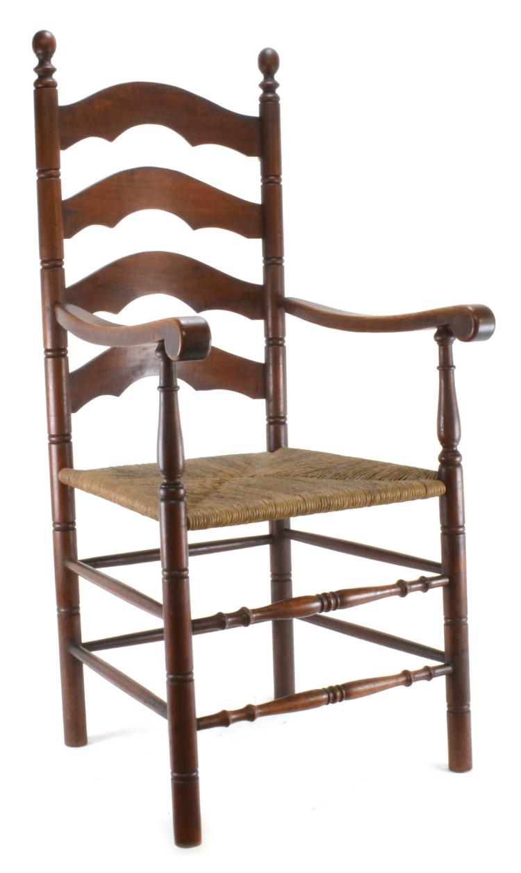 Lot 167: American Ladder Back Armchair