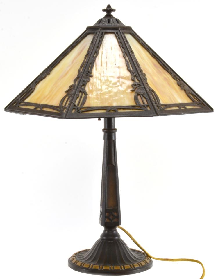 Lot 173: Miller Slag Glass Table Lamp