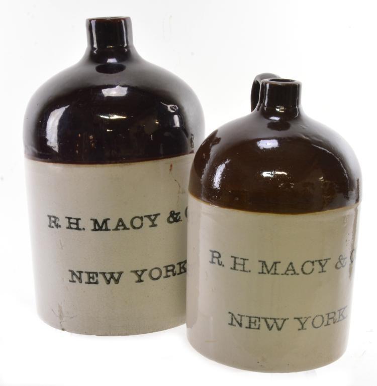 R.H.Macy & Co Stoneware Jugs
