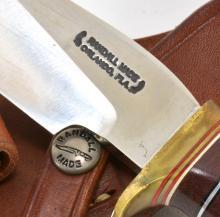 Lot 183: Randall Made Orlando Fla. Stag Handle Sheath Knife