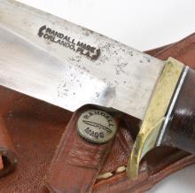Lot 184: Randall Made Orlando Fla. Stag Handle Sheath Knife