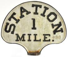 Lot 187: Antique Southern Railroad Cast Iron Sign