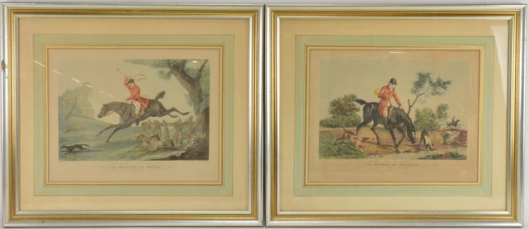 Carle Vernet Hunting Lithographs