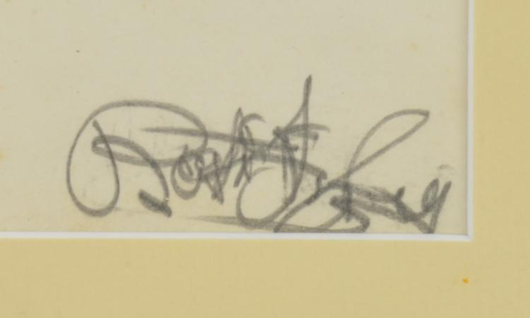 Lot 199: Group Of Pencil Signed Nude Drawings