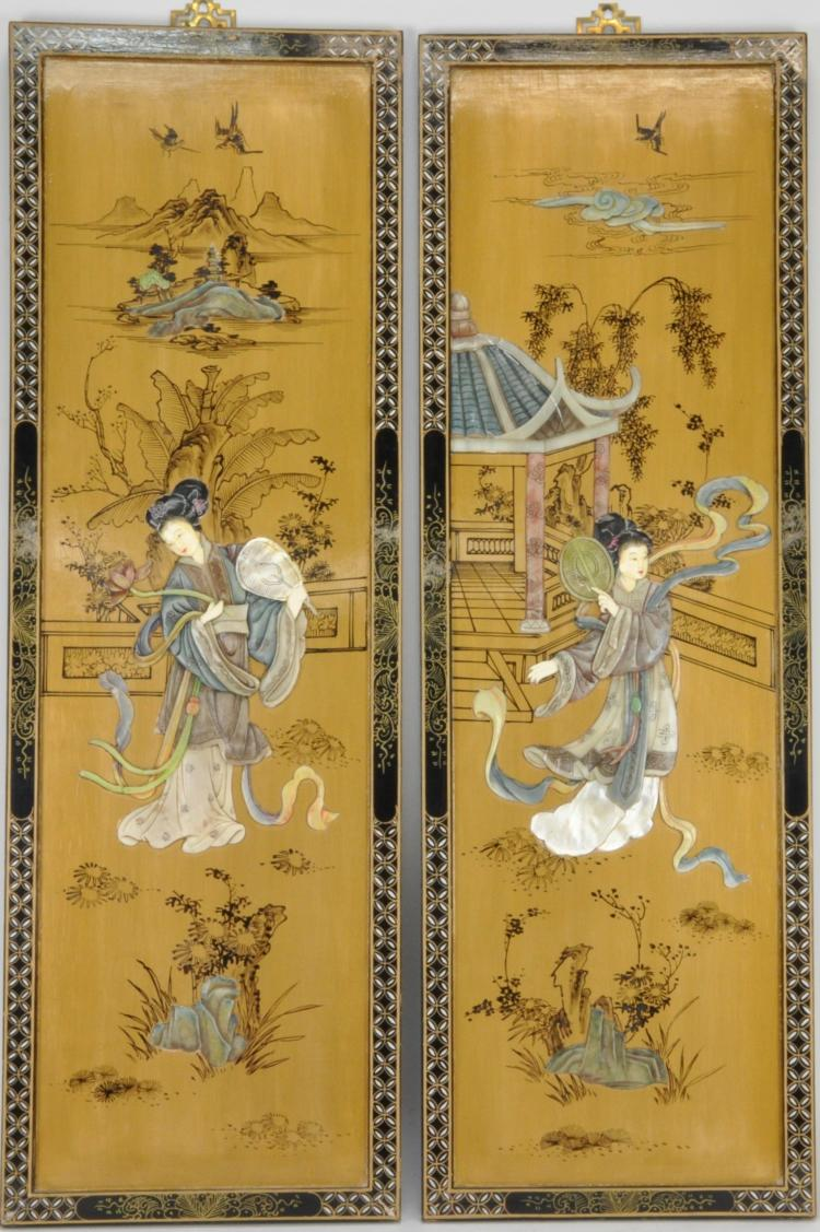 Japanese Lacquer Wall Panels