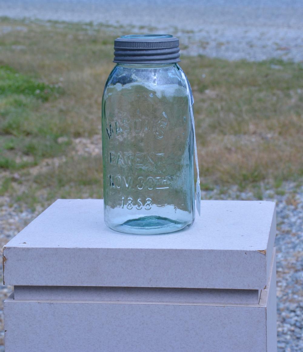 Antique Mason's 1858 Half Gallon Fruit Jar