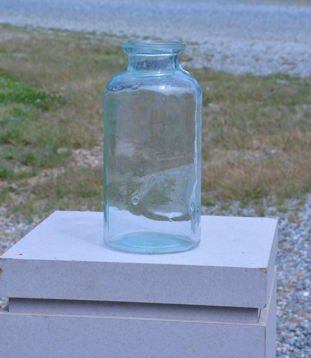 Antique M.G.CO Wax Seal Half Gallon Fruit Jar