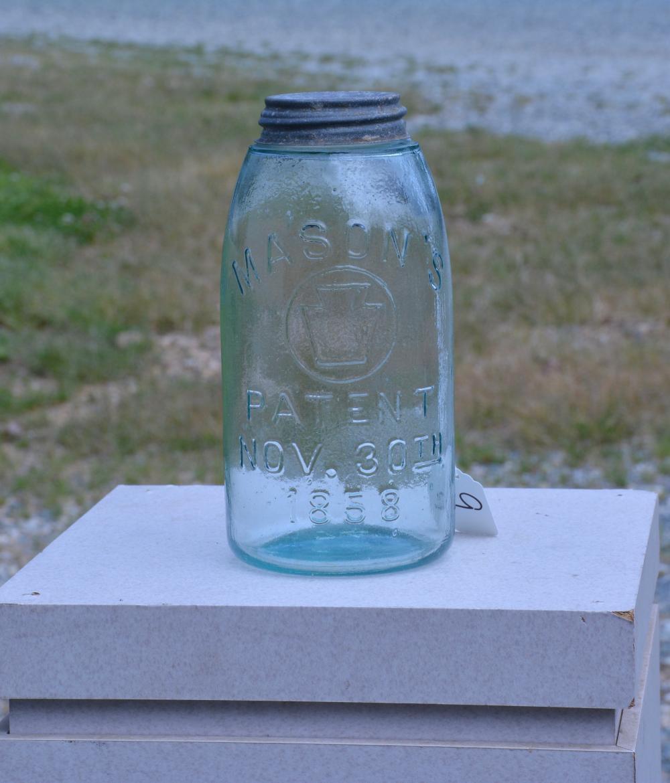 Antique Mason's Keystone 1858 Half Gallon Fruit Jar