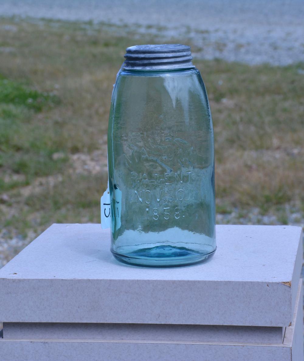 Antique Mason's 1858 / Ball Mason Half Gallon Fruit Jar
