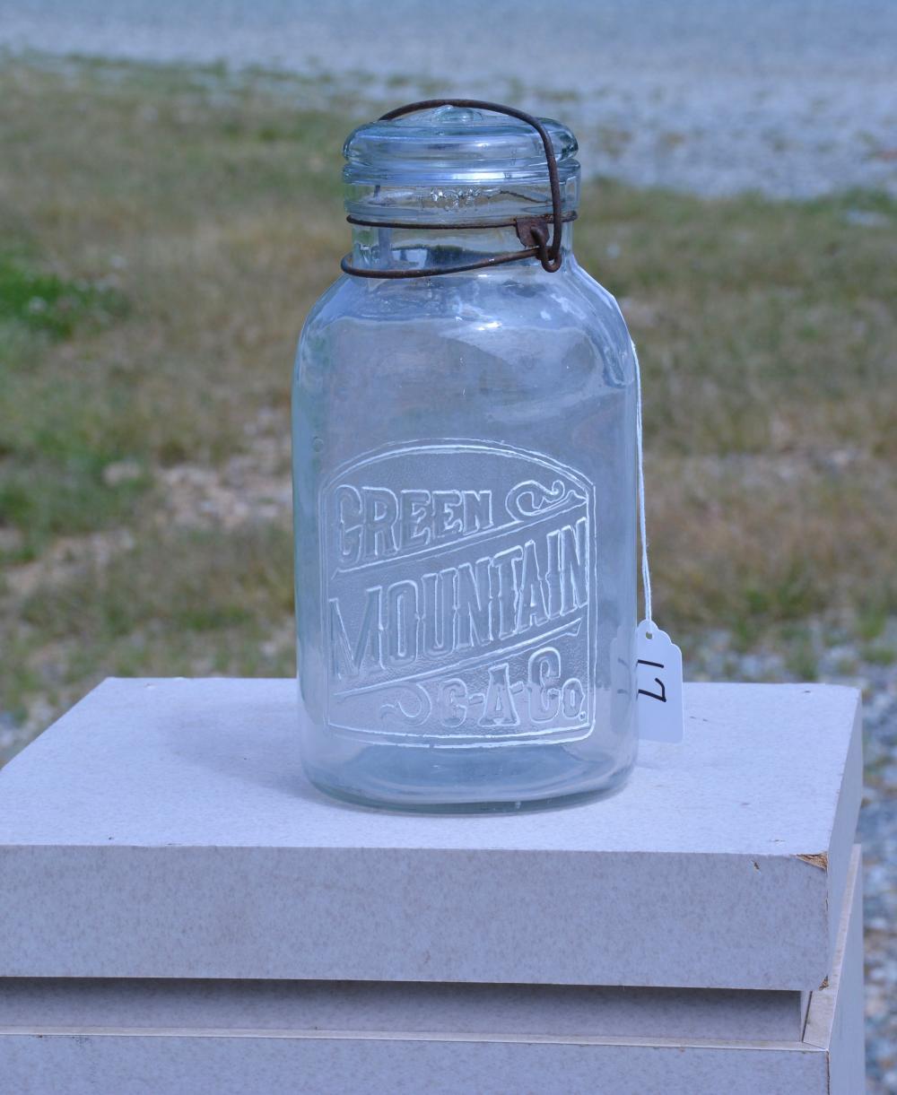 Antique Green Mountain C-A-Co. Half Gallon Fruit Jar