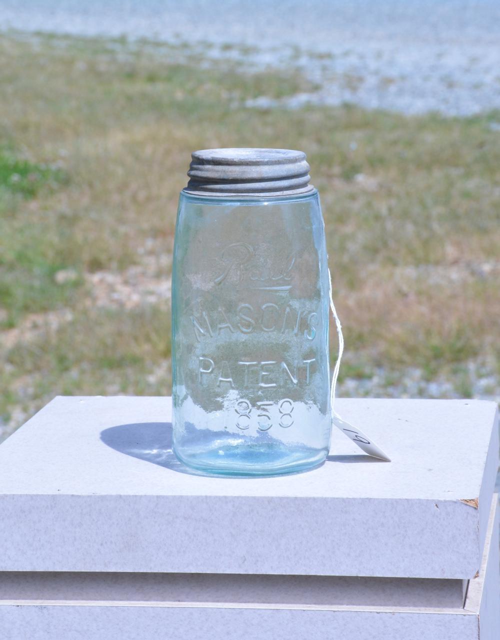 Antique Ball Mason's 1858 Quart Fruit Jar