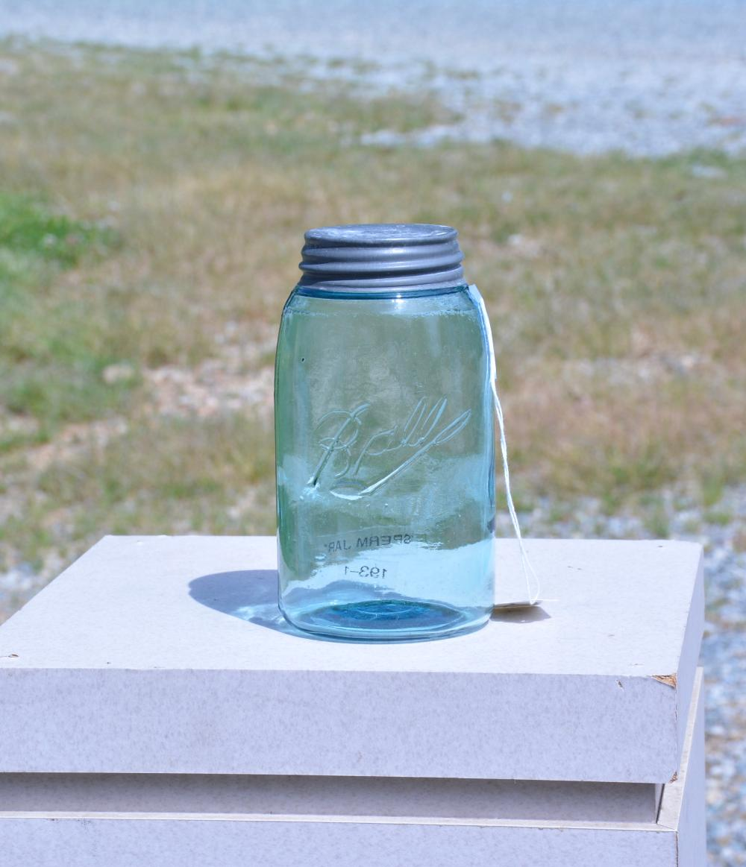 Antique Ball Quart Sperm Fruit Jar
