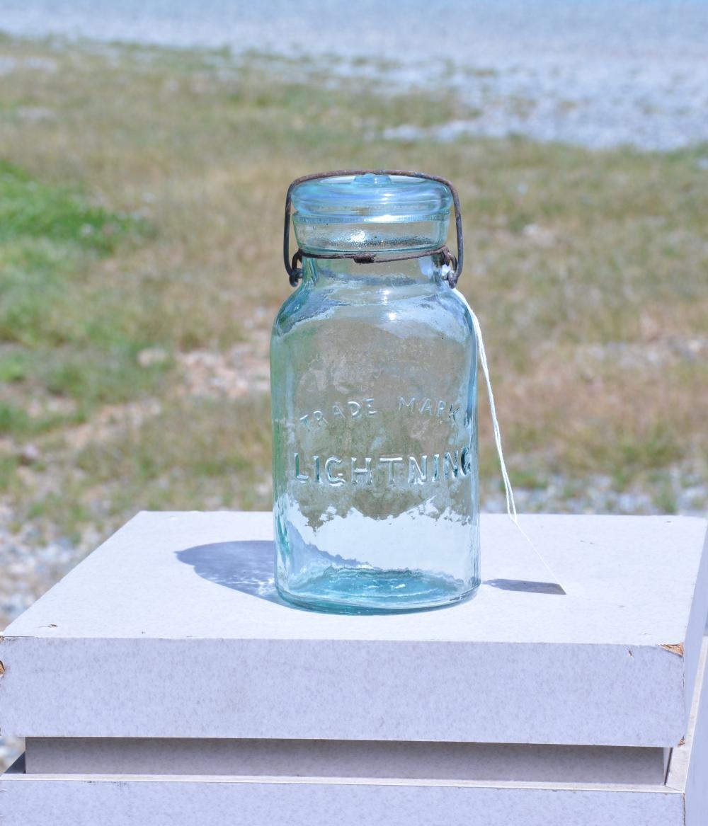 Trade Mark Lightening Quart Fruit Jar
