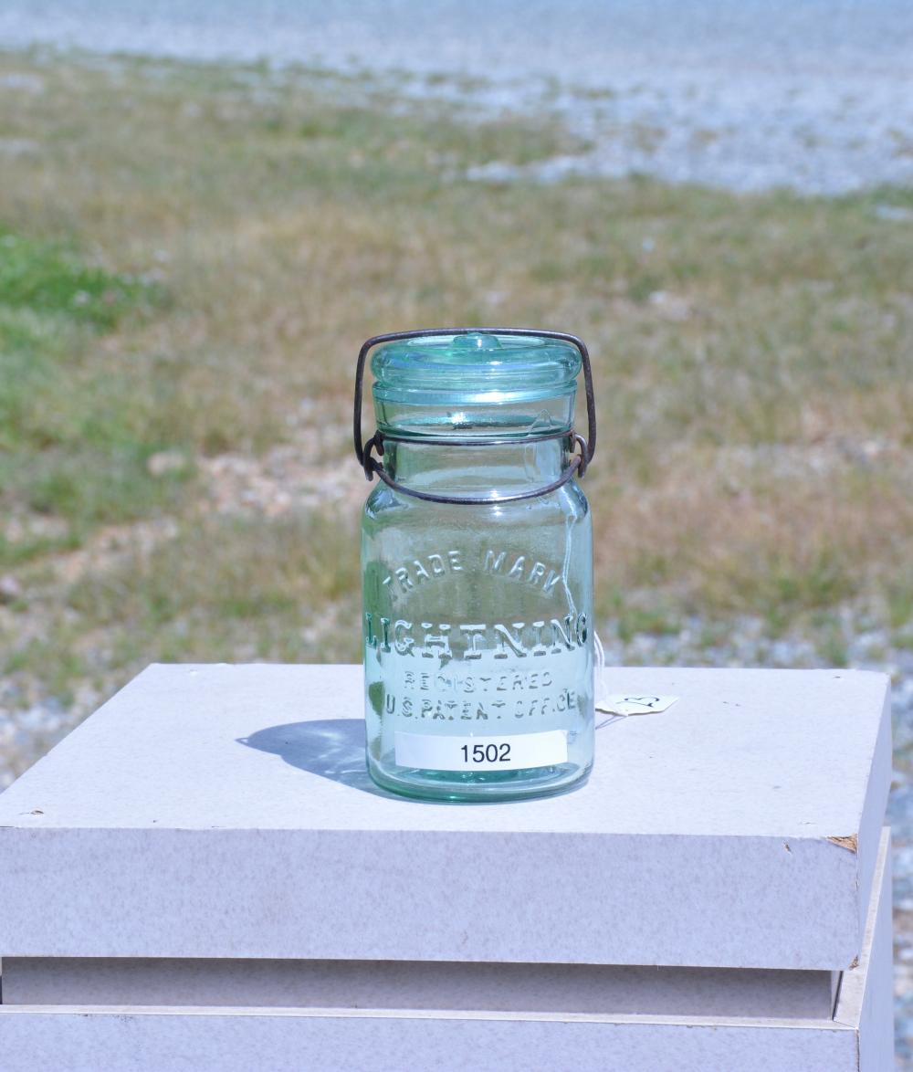 Trade Mark Lightening Green Pint Fruit Jar