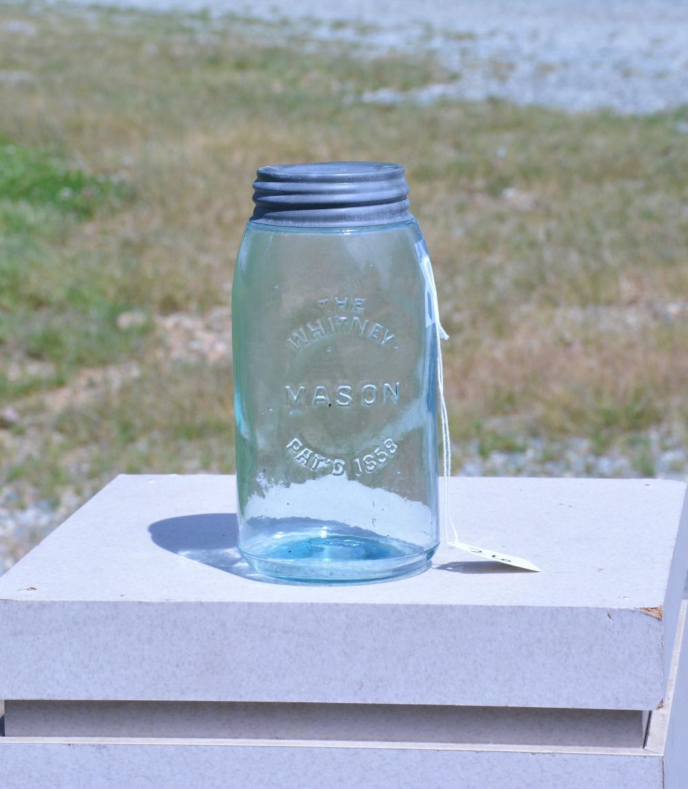The Whitney Mason 1858 Quart Fruit Jar