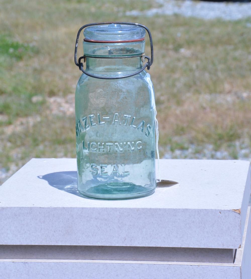Hazel-Atlas Lightning Seal Quart Fruit Jar