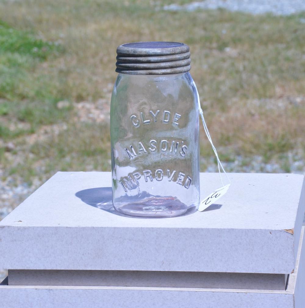 Clyde Mason's Improved Quart Fruit Jar