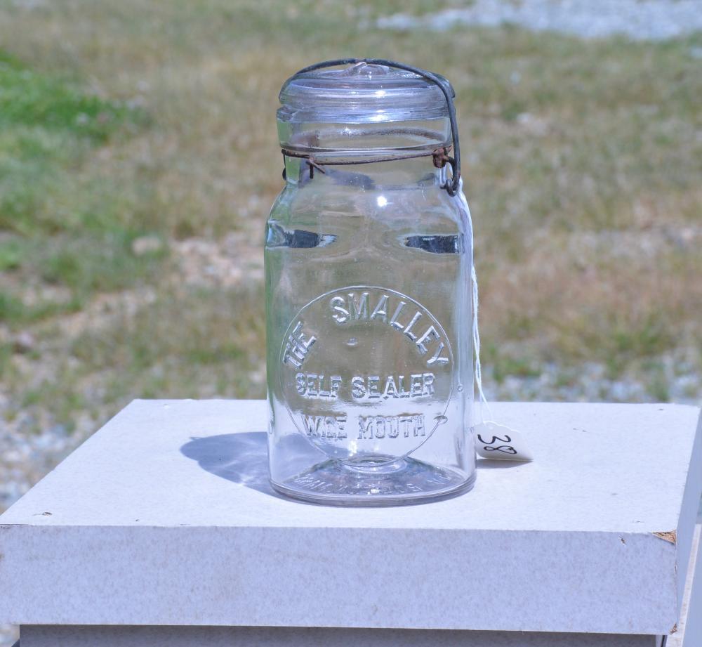 The Smalley Self Sealer Wide Mouth Quart Fruit Jar