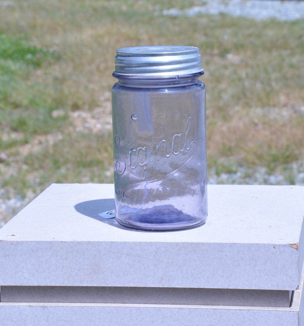 Signal Quart Amethyst Fruit Jar